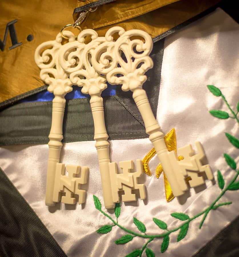 Lodge of Secret Master Ivory Key