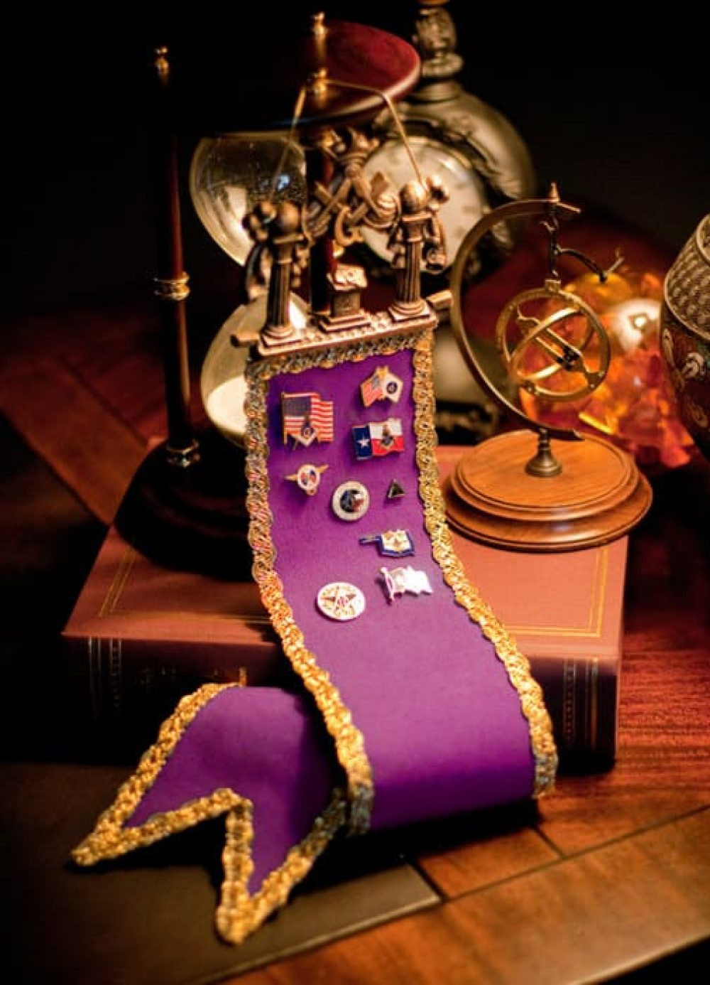 Masonic Lapel Pin & Medal Display Ribbon
