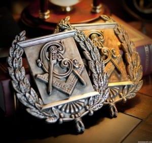 Masonic Wreath Emblem Plaque