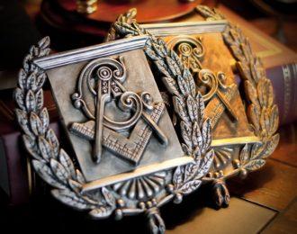 Masonic Heraldic Wreath Emblem Plaque