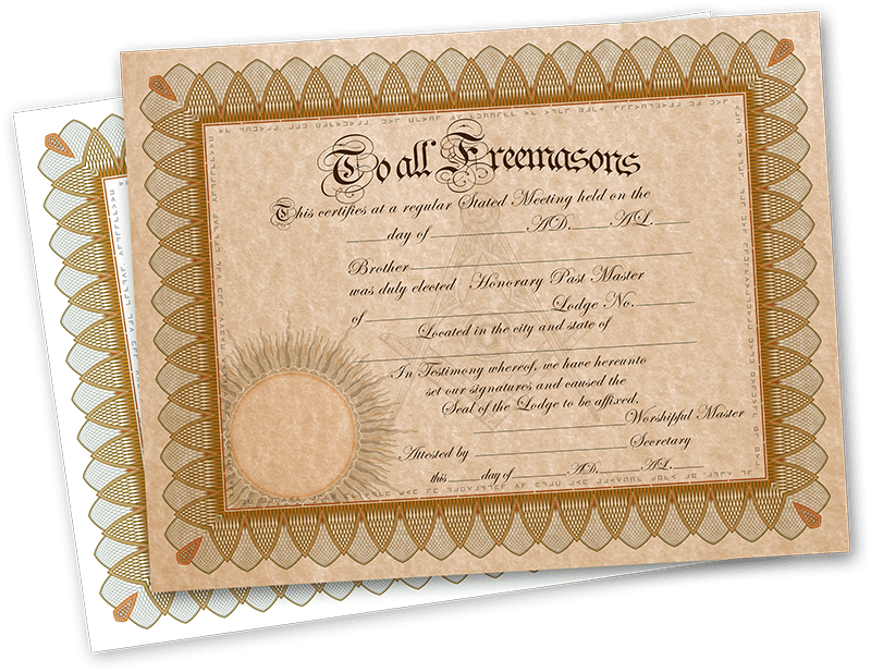this certificate is free to use but not for re sale in many masonic jurisdictions lodges are able to offer honorary membership not actual membership