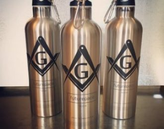 Masonic Stainless Steel Double Walled Vacuum Insulated Water Bottle