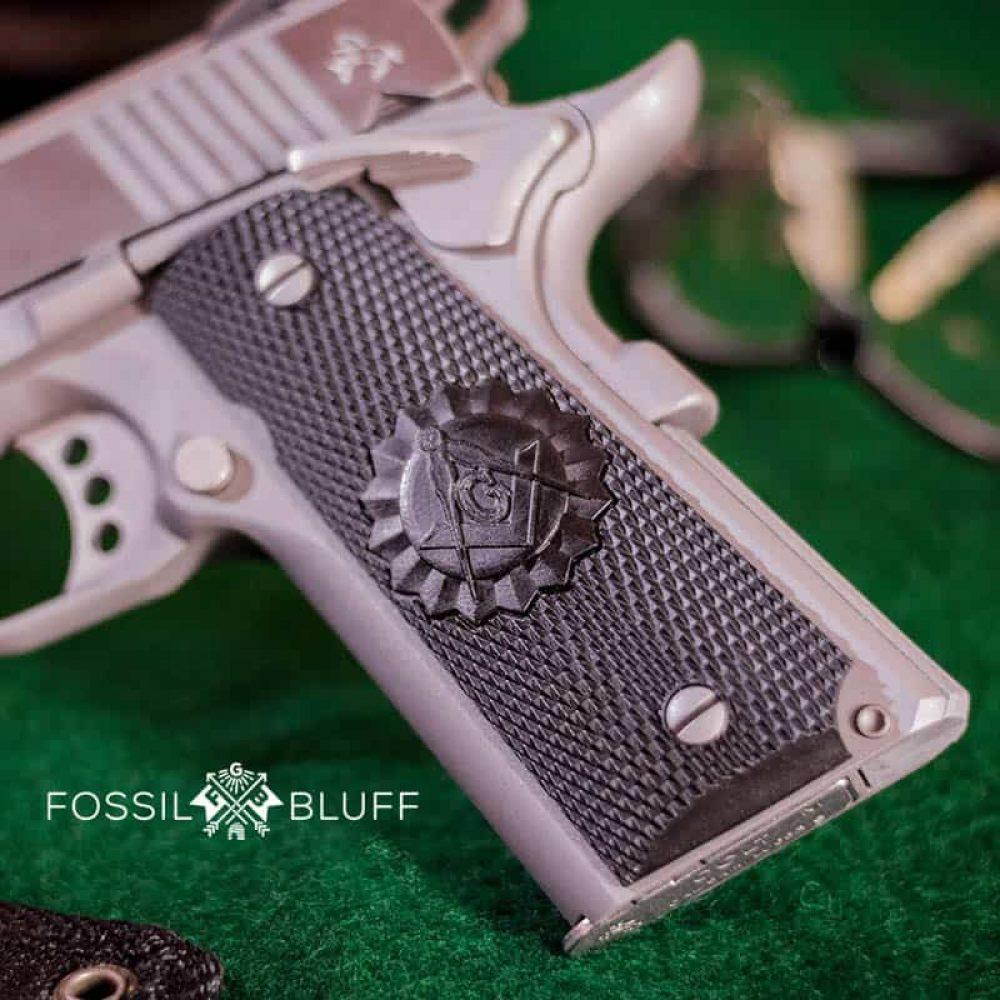 1911 Custom Masonic Grips GI Freemason Masonic Fossilbluff