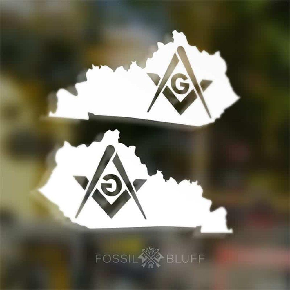 Kentucky Masonic Car Decal - Fossil Bluff