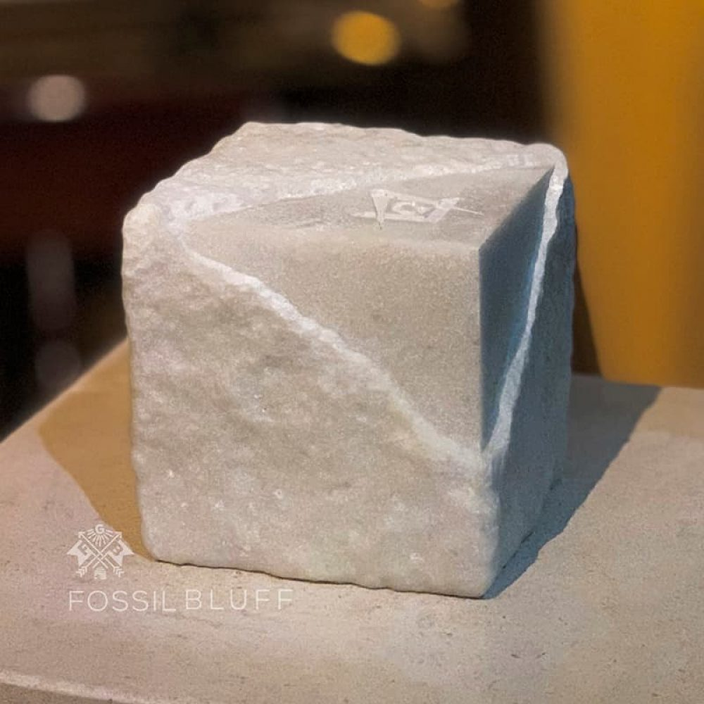 Masonic Freemason Rough Perfect Ashlar Fossilbluff