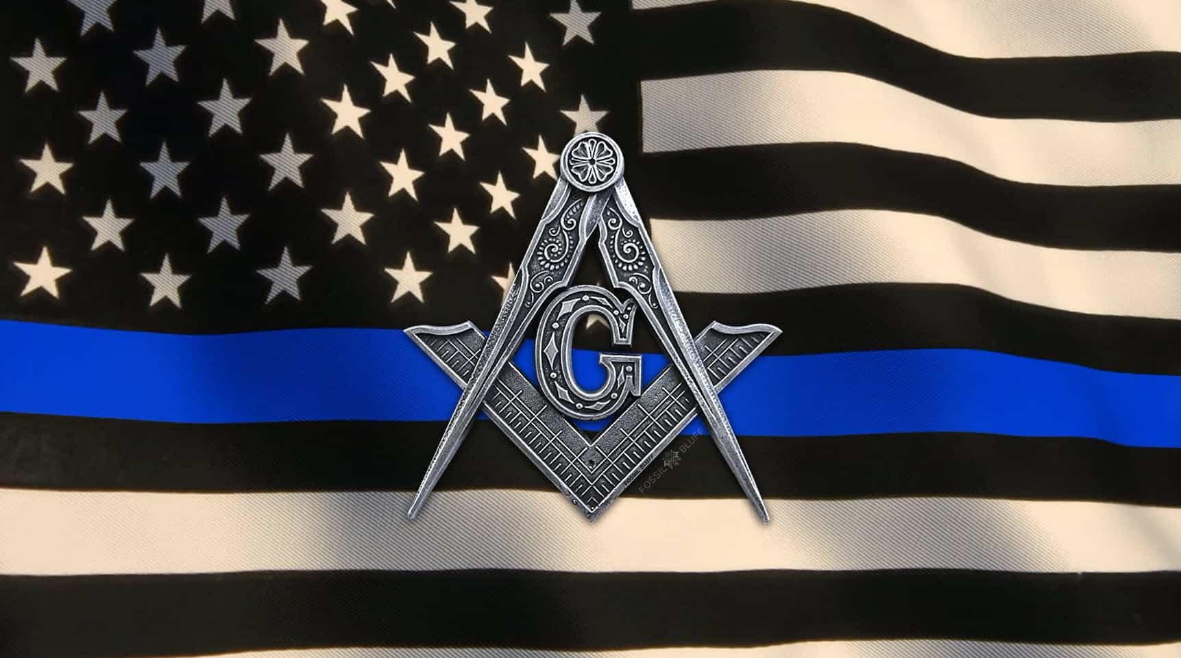 Thin Blue Line Animated Masonic Flag - Fossil Bluff