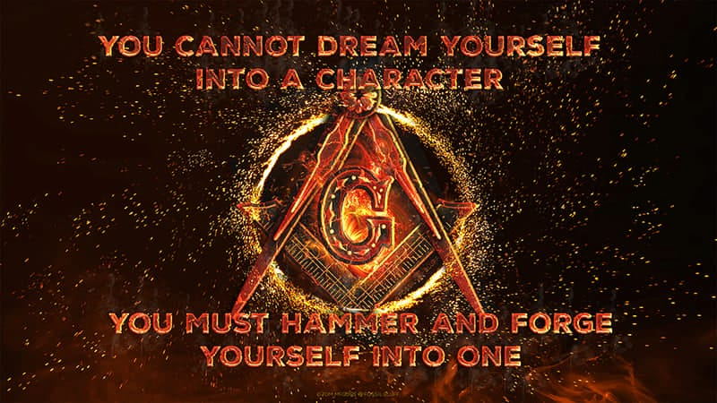 Forge Yourself Masonic Wallpaper