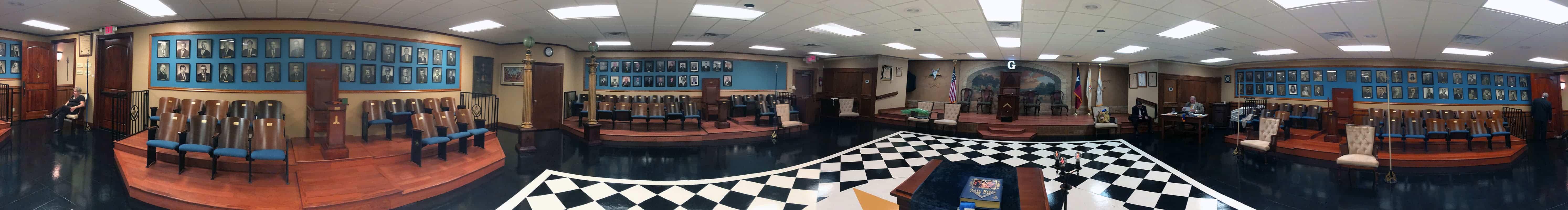 New Braunfels Masonic Lodge Panorama