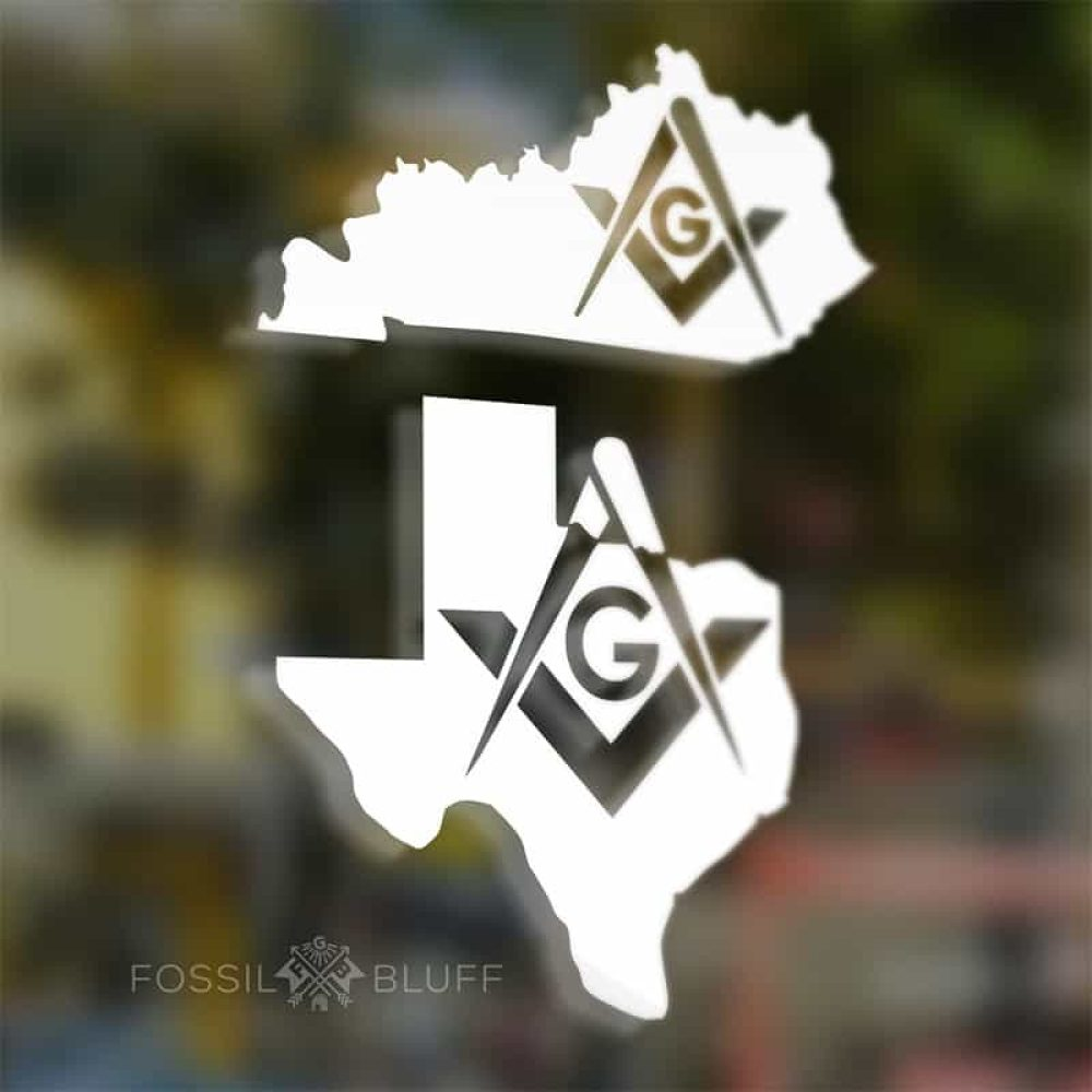 Masonic State Car Sticker Decal - Fossil Bluff
