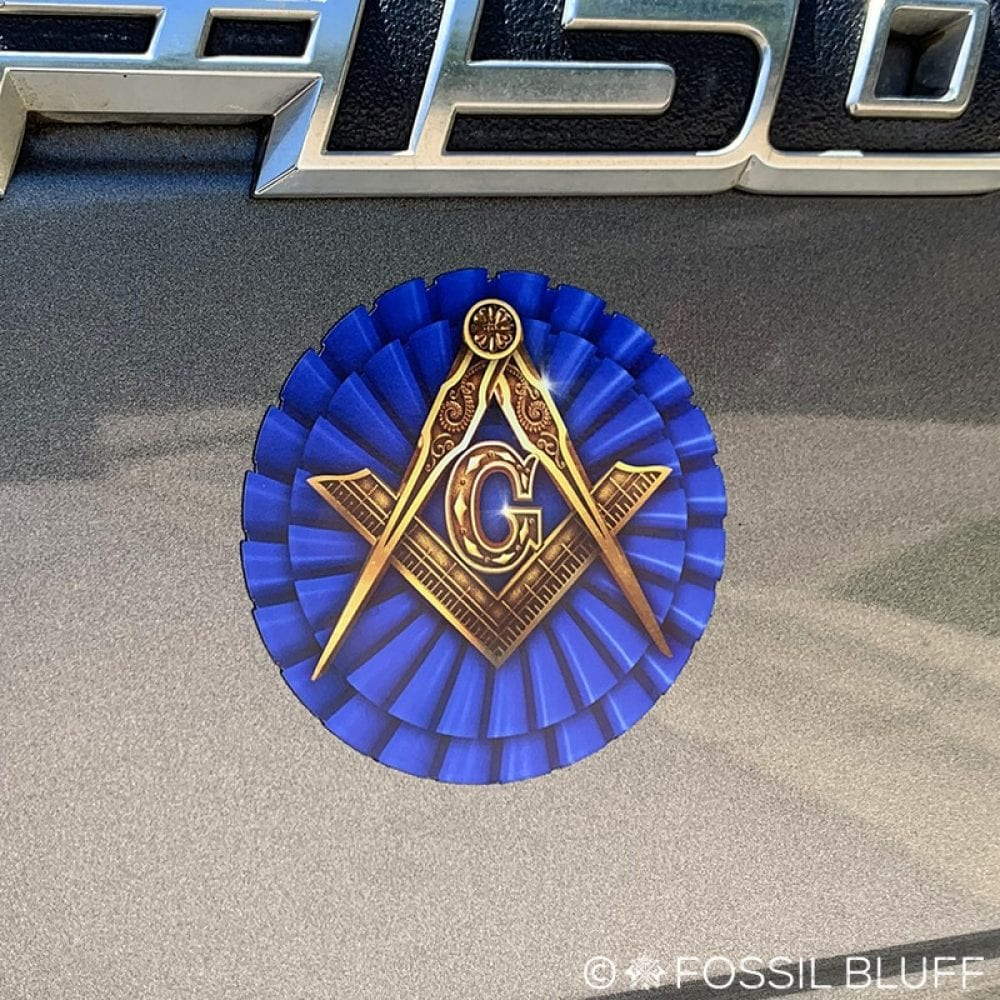 Die cut Masonic Flexible Car Refrigerator Magnet
