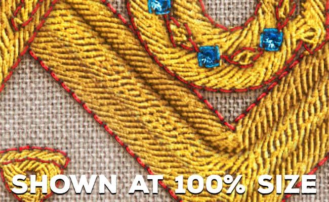 Integrity Embroidery Linen Denim Masonic Wallpaper 100 percent