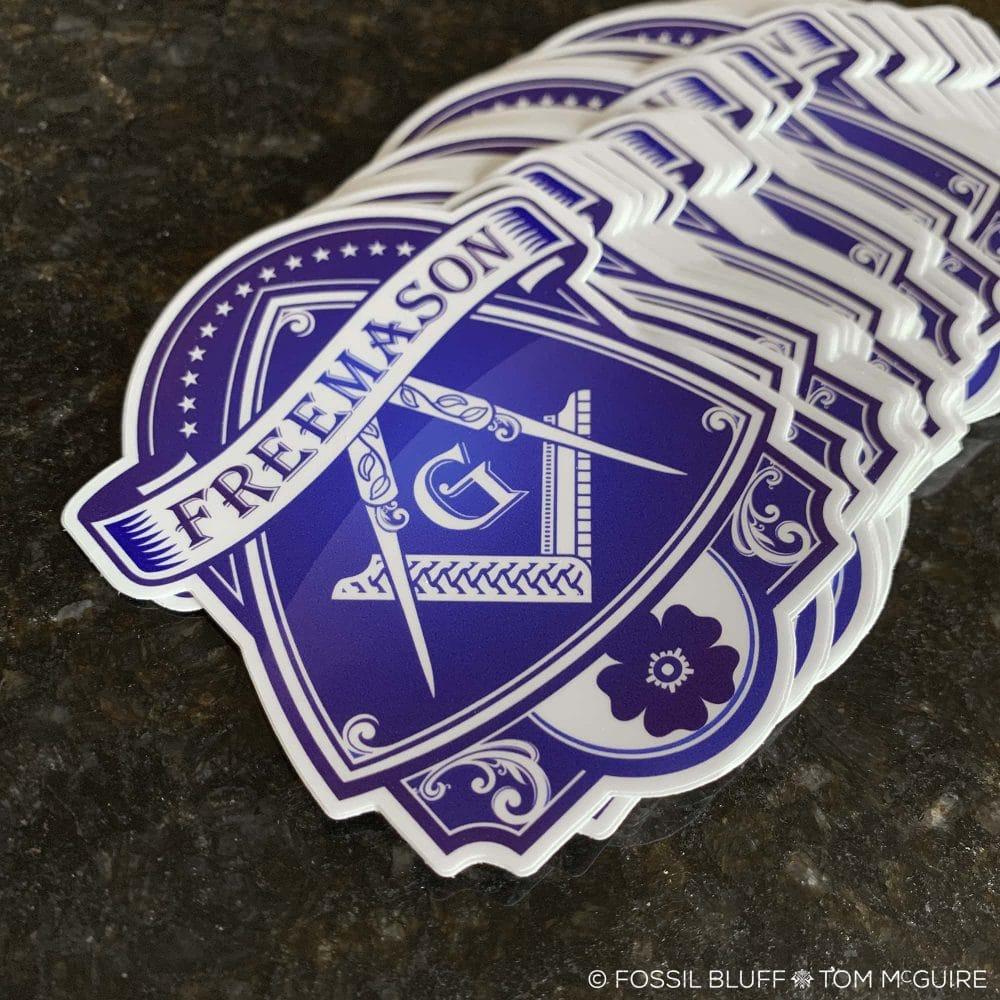 Fossil Bluff Blue Lodge Freemason Die Cut Sticker