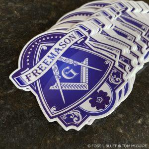 Blue Lodge Freemason Die Cut Sticker