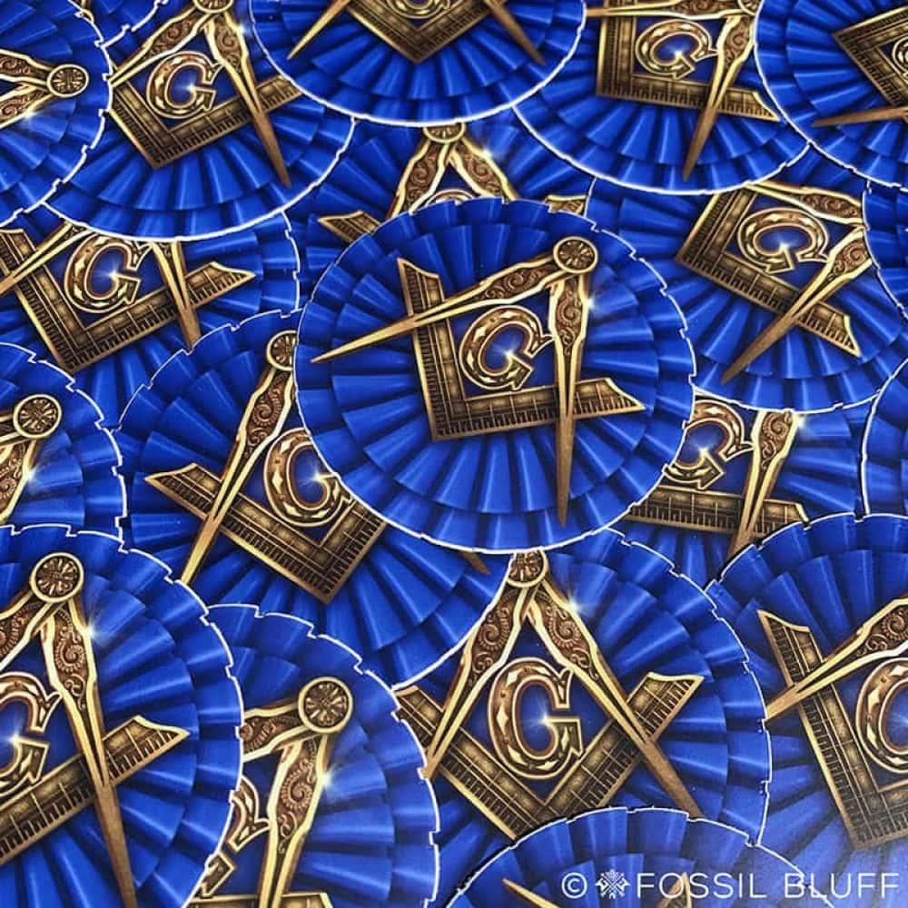 Masonic Die Cut Sticker