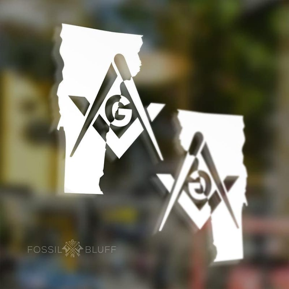 vermont masonic vinyl sticker freemason decal fossilbluff