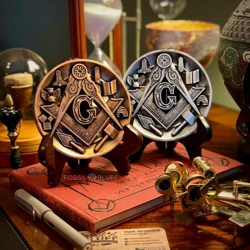 Vintage Antique Masonic Medallion Emblem Ornament Fossil Bluff