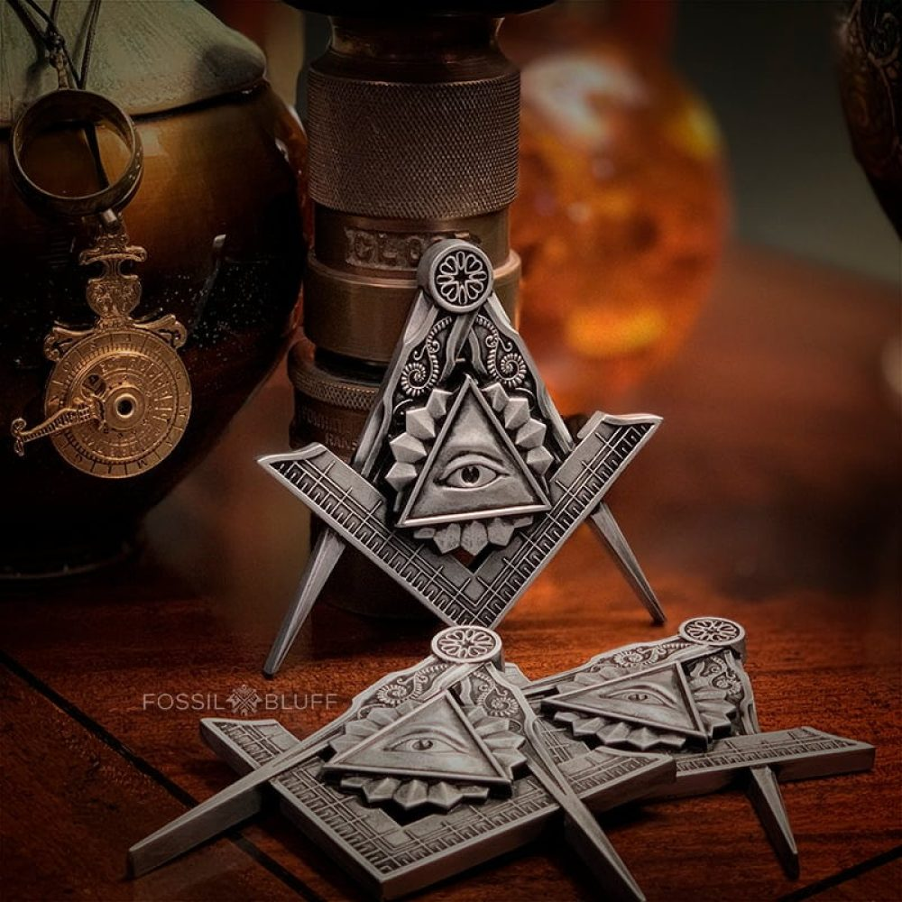 All Seeing Eye Providence Freemason Masonic Emblem Entered Apprentice Mason EA Pewter