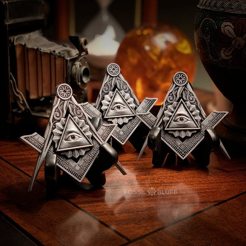 All Seeing Eye Providence Freemason Masonic Emblem Tri Lux Pewter EA FC MM